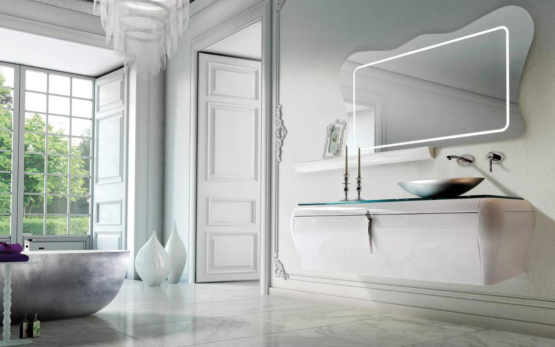 Edilpunto arredo bagno specchi lampade bagno - Mobile bagno sfalsato ...